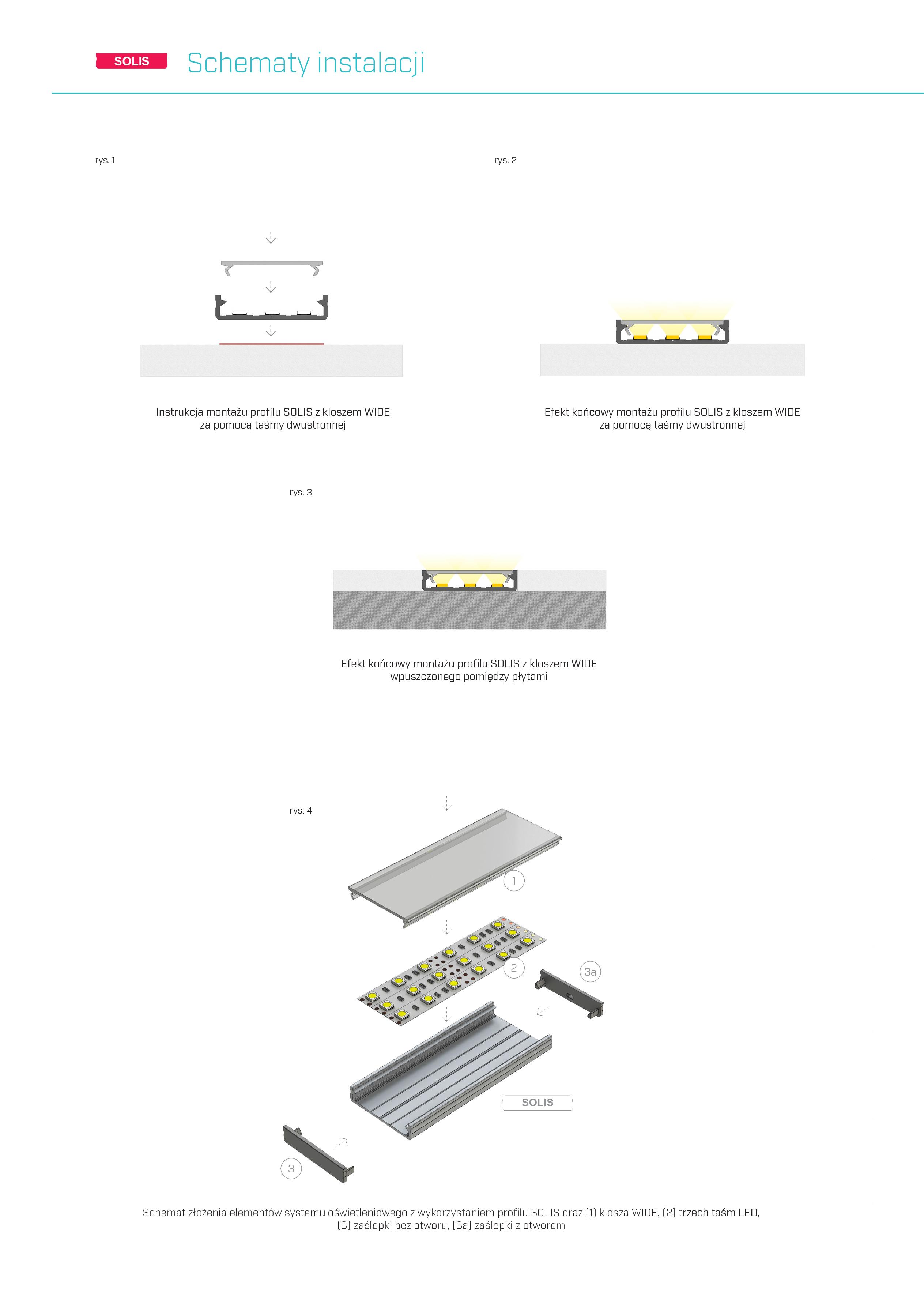 profil solis lumines montaż