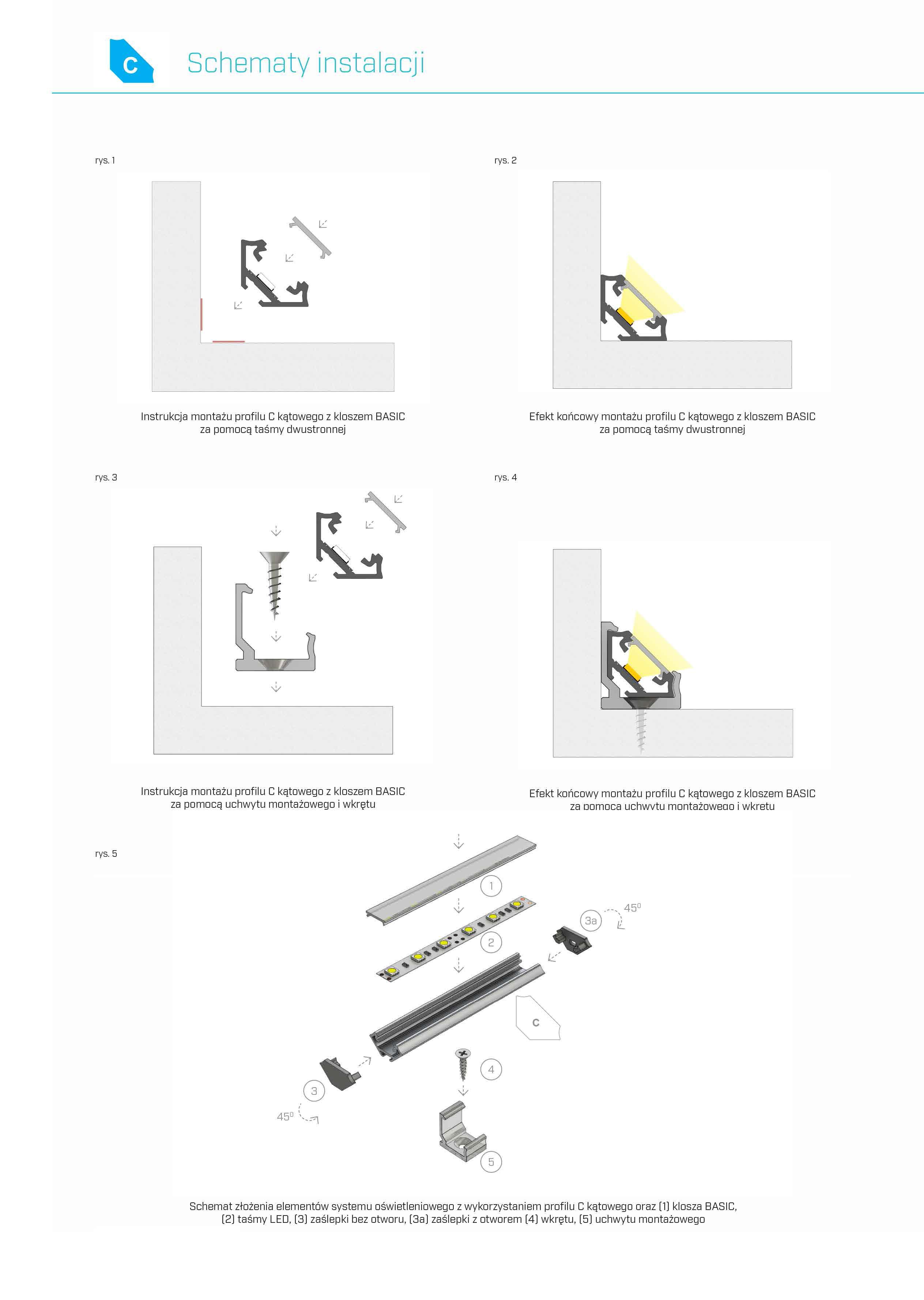 profil aluminiowy C