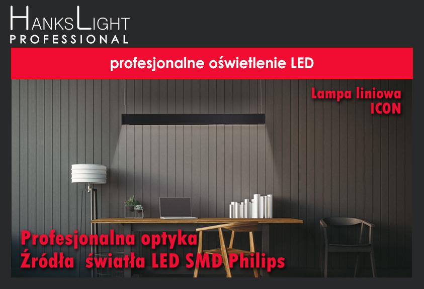 Liniowa oprawa LED zwieszana ICON