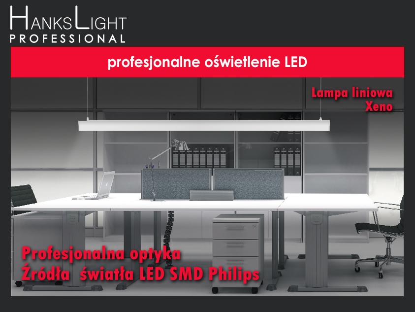 zwieszana oprawa liniowa LED XENO