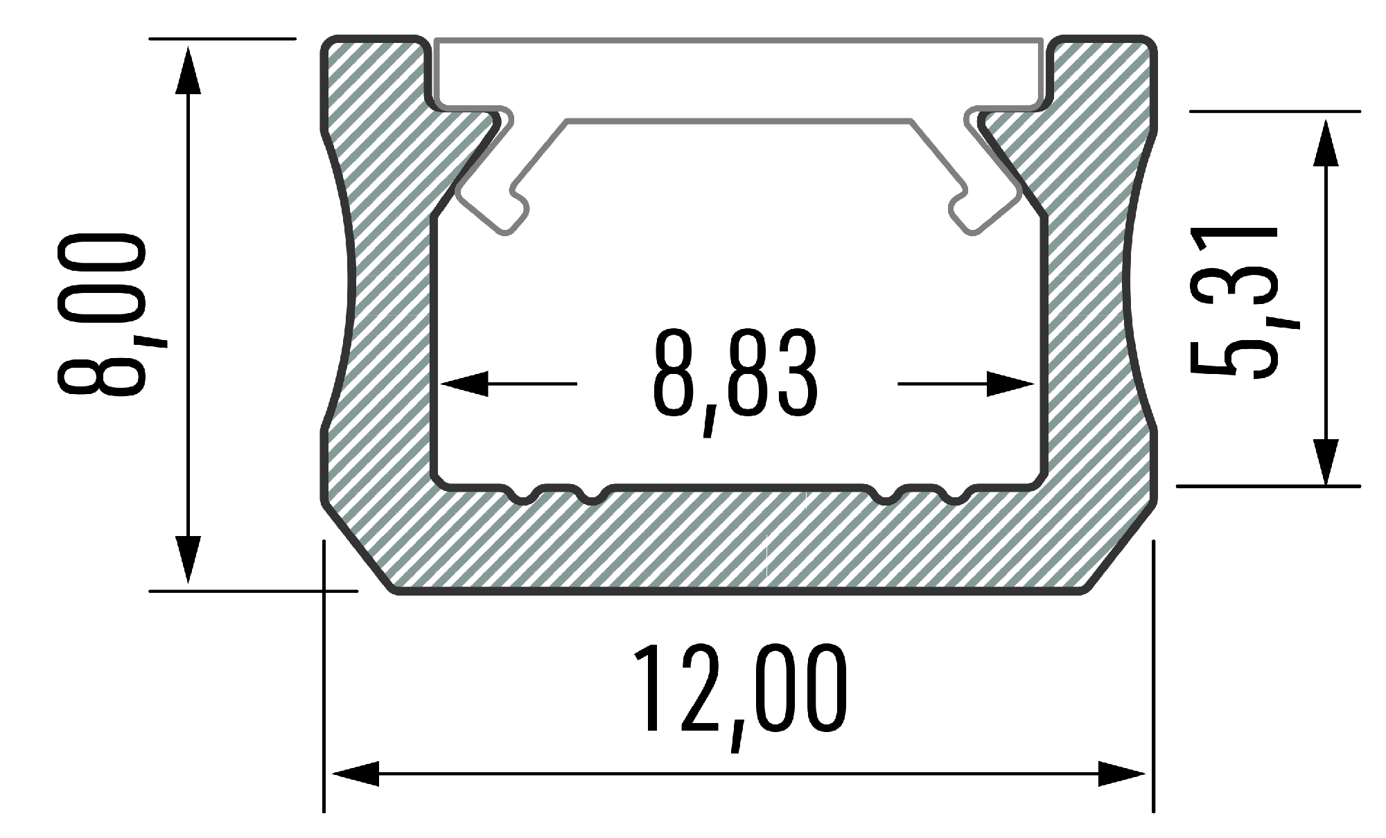Profil LED 12mm typ X