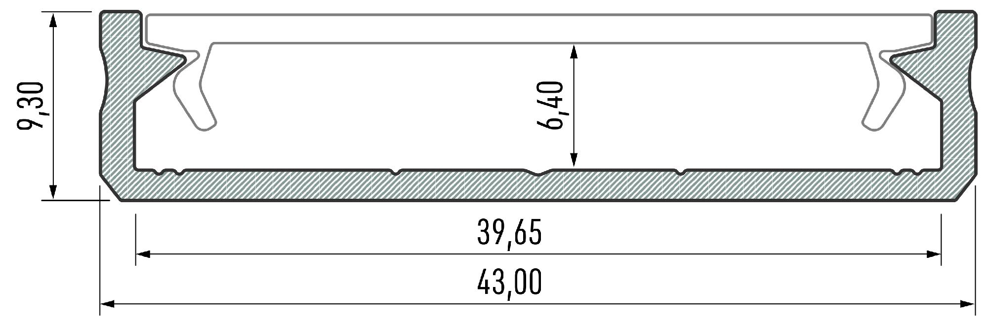 Profil LED Solis 43mm