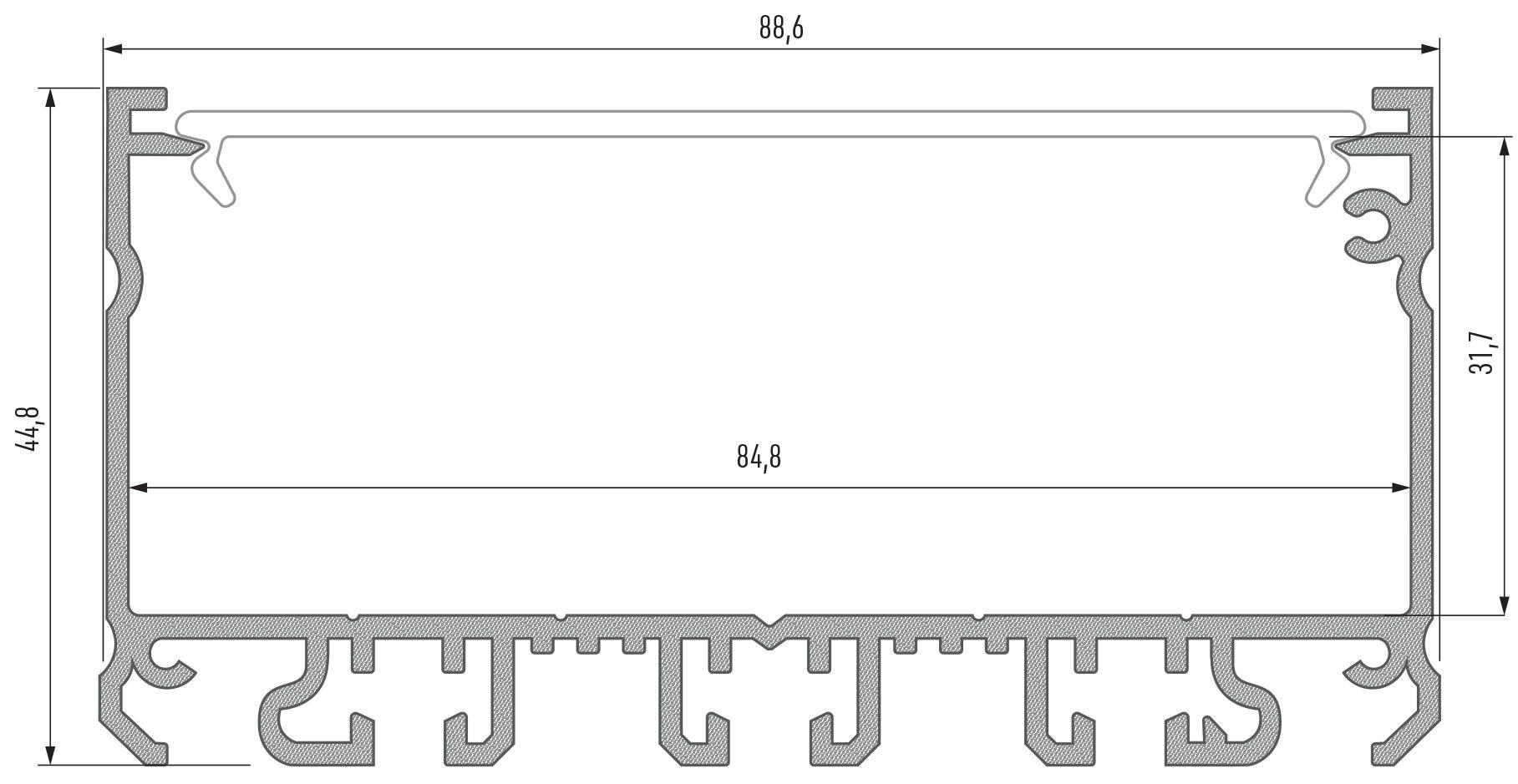 Profil LED aluminiowy szeroki Largo