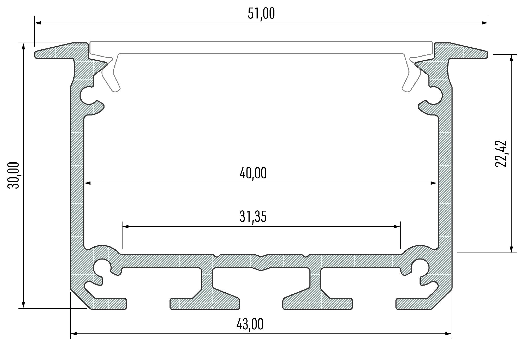 Profil LED architektoniczny Inso