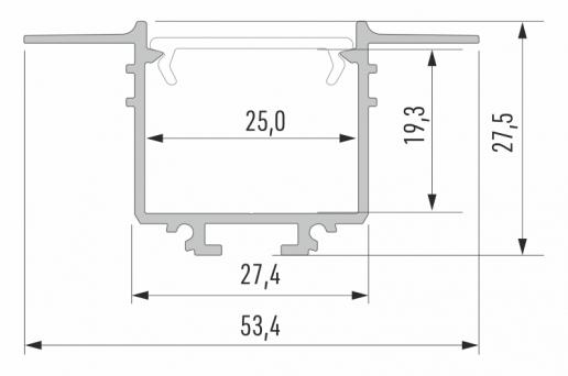 Profil LED GK Subli wymiary