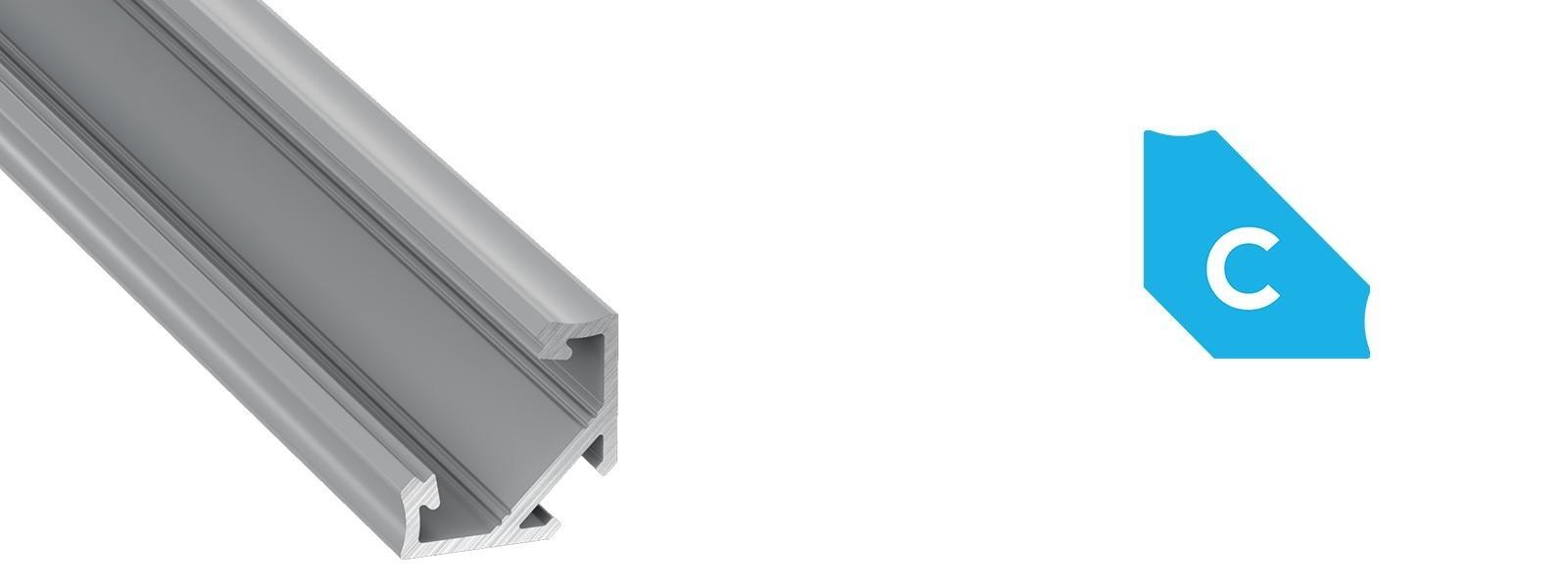 Profil LED kątowy typ C