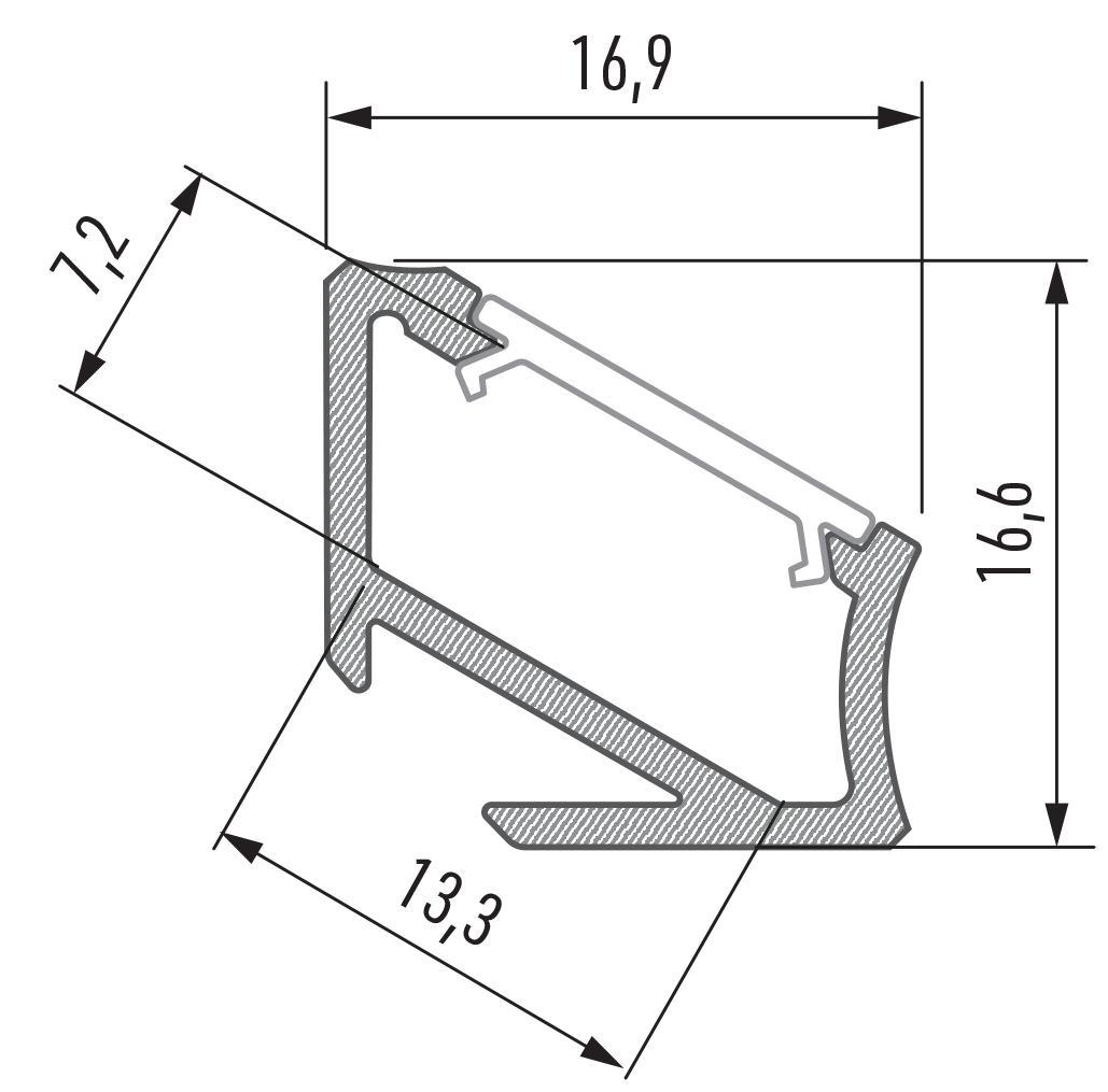 Profil LED kątowy typ H