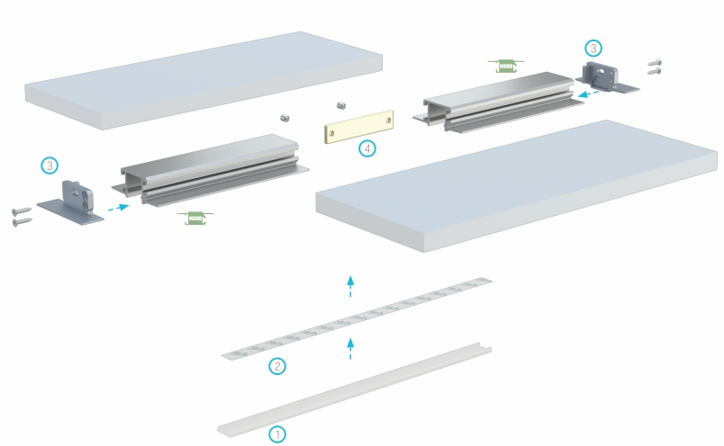Profil LED Mono akcesoria montażowe
