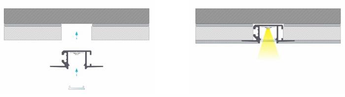Profil LED Mono montaż