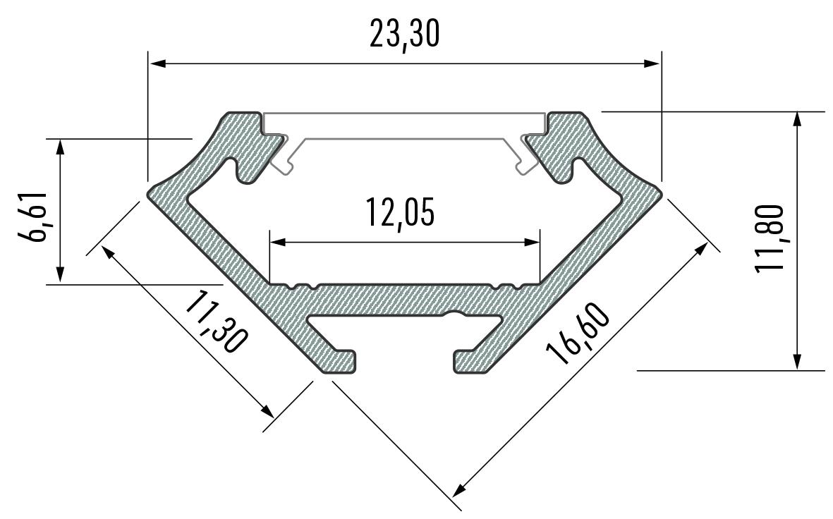 Profil LED narożny typ C