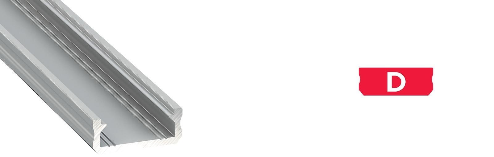 Profil LED płaski typ D