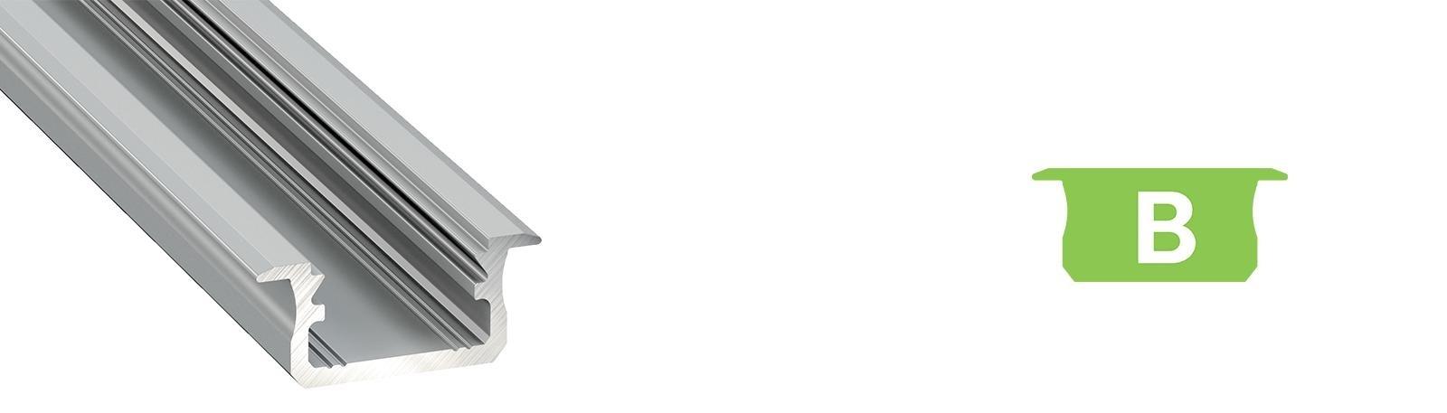 Profil LED podtynkowy typ B
