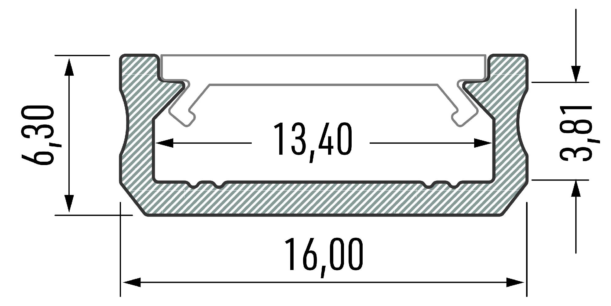 Profil LED Slim typ D