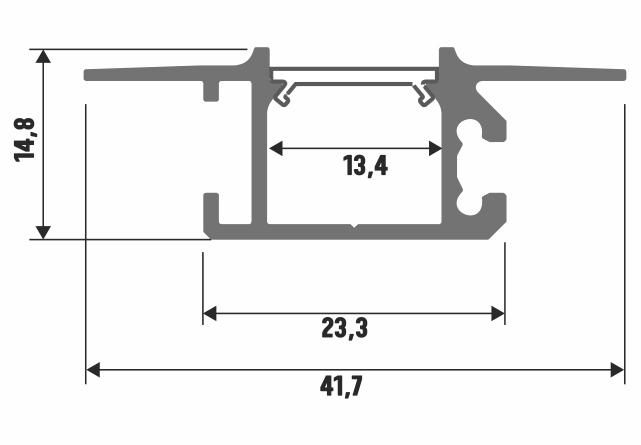 Profil LED wpuszczany Mono