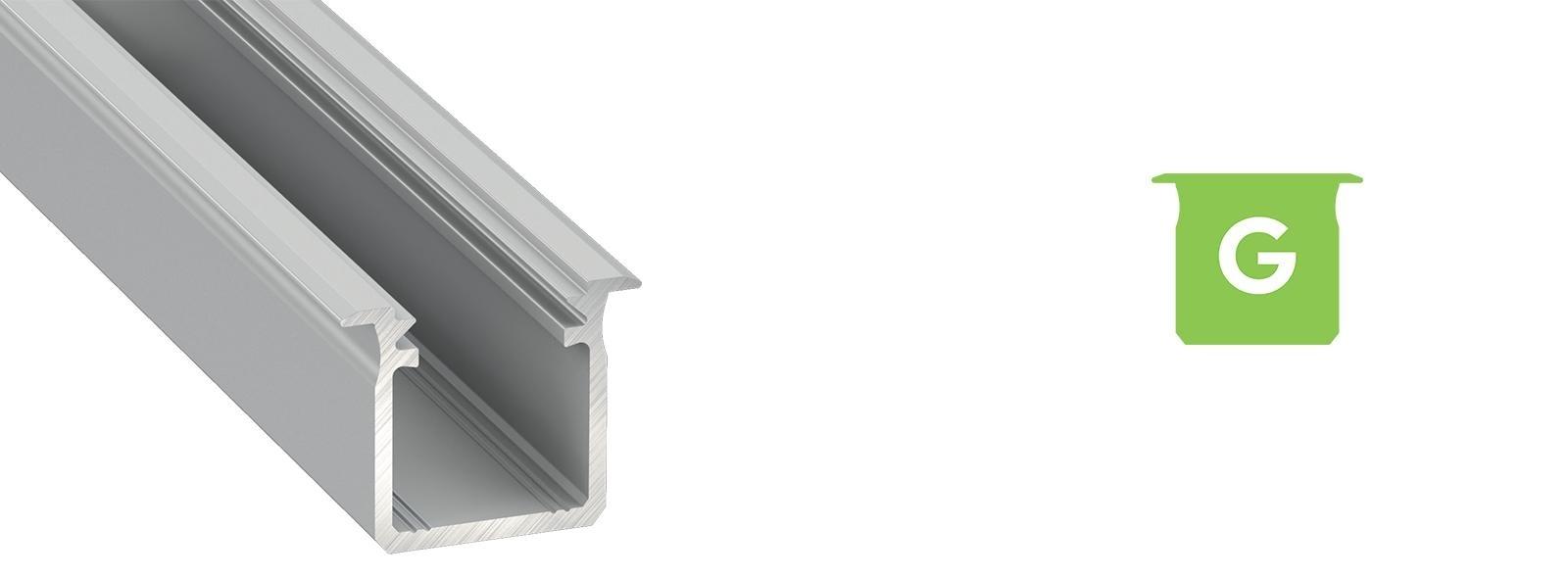 Profil LED wpuszczany typ G